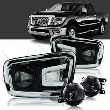 2018 Nissan Titan Led Fog Lights 2016 2019 Nissan Titan Xd Cree Led Fog Lights W Wiring Kit Clear