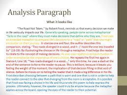 freshmen semester  sample analysis paragraph
