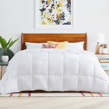 linenspa white oversized king down alternative microfiber comforter