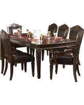 8 piece dining room set. homelegance palace 8piece dining room set in brown cherry 8 piece