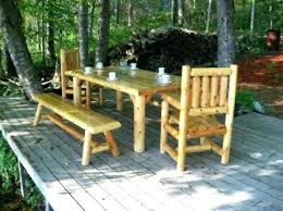 log cabin outdoor chairs patio furniture style best garden decorating charming
