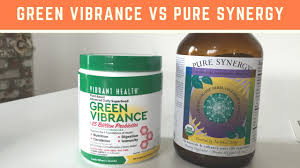 Green Vibrance vs <b>Pure Synergy</b> - YouTube