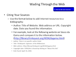 how to cite your sources citing sources wading through the web 3 how to cite your sources