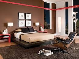 Modern Bedroom Rugs Modern Bedroom Design With Brown Wall Color White Bed And Brown