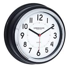 black round kitchen wall clock