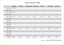 Schedule Document Template Schedule Table Template Printable Schedule Template