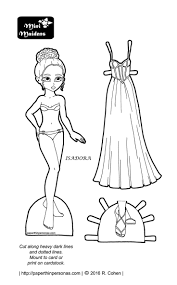 Isadora Goes To Prom Paper Doll