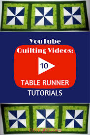 YouTube Quilting Videos: 10 Table Runner Tutorials | FaveQuilts.com &  Adamdwight.com
