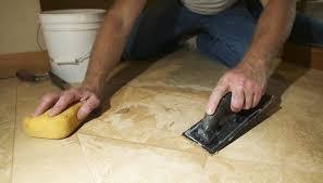 hands of marble mason sing floor