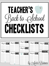 Mrs Bremers Class Free Back To School Teacher Checklists