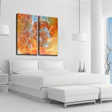 on 2 pc canvas wall art with ready2hangart earth tone abstract xii 2 pc canvas wall art