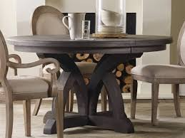 furniture corsica dark wood 54 wide round dining table
