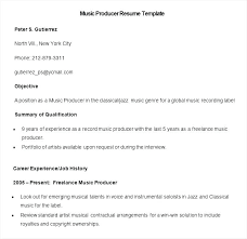 Musical Resume Template Amazing Musical Resume Template Sample Music Cv Template Free
