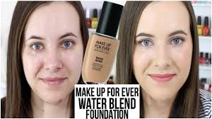new makeup forever water blend foundation first impressions demo makingupashlee you
