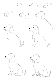puppy drawing step by step. Plain Step How To Draw A Puppy  Learn With Simple Step By  Instructions And Puppy Drawing Step By Pinterest