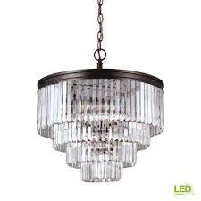 carondelet 6 light burnt sienna chandelier with led bulbs