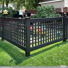 Black Vinyl Fence Amazing Low Maintenance Fence Idea Black Pvc