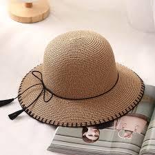 woman summer beach sun hats wide brim leather