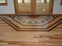 Plain Wood Floor Designs Borders 1 Hickory With A Walnut Border Ozark Hardwood Decor