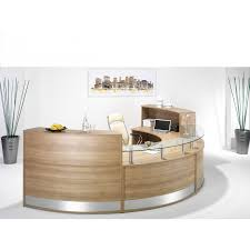 semi circle office desks would be great for a reception desk