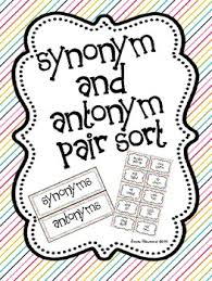 Pattern Synonym Amazing Synonym And Antonym Pair Sort By Once Upon A Learning Adventure TpT