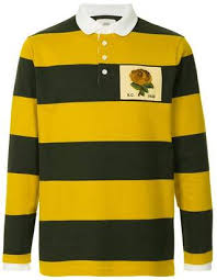 kent curwen striped rugby polo shirt