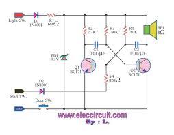 headlight warning buzzer electronic projects circuits headlight warning buzzer