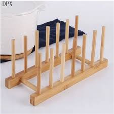 china kitchenare kitchen tools wood plate drying rack pot lid display holder china pot lid display holder bamboo wood plate drying rack