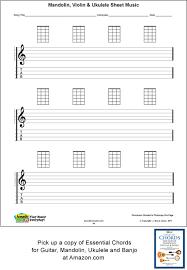 Blank Ukulele Chord Chart Printable Ukulele Blank Sheet Music Staff Tab Acoustic Music Tv