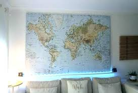 world map print tapestry wall hanging art decoration of the atlas rare large for