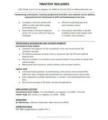 97 Resume Sample Waiter Curriculum Vitae Samples For Bca