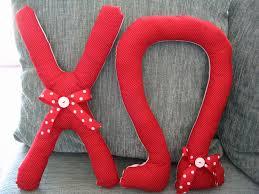 sorority letter pillows