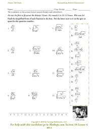 solving radical equations worksheets