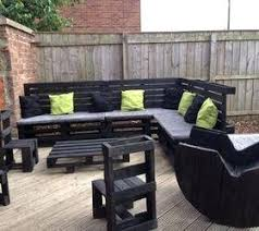 outdoor furniture ideas. Pallet Patio Furniture Ideas Black Painted Outdoor