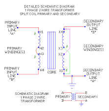 1 phase trans schematics part 2 ecn electrical forums 1 phase 2 wire series primary parallel secondary w polarity marks