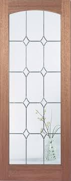 hardwood imperial diamond bevel glass internal door