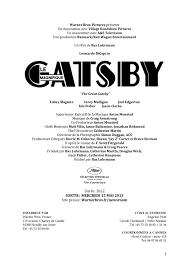 Calaméo - GATSBY LE MAGNIFIQUE Un film de Baz Luhrmann
