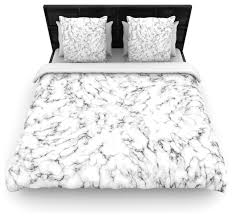 will wild marble white gray featherweight duvet cover twin 68 x88 contemporary duvet covers and duvet sets by kess global inc