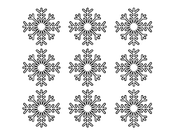 Snowflakes Template Pdf Printable Small Snowflake Template