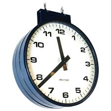 train station clock double sided style clocks for the wall