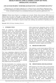 Os Design Issues Design Issues And Classification Of Wsns Operating Systems