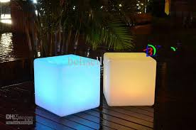 creative lighting furniture plastic led bench square 30cm bench rgb color bench bar home decor bench lighting