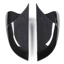 Horn Shape <b>ABS Carbon Fiber Style</b> Rear View Side Mirror Cover ...