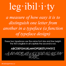 Graphic Design Definition Graphic Design Terms 9 10 Legibility Vs Readability Kaz