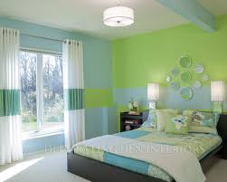 Paint Colors For Bedrooms Green Clever Use Of Paint Creates Rooms Design Creative Girls And