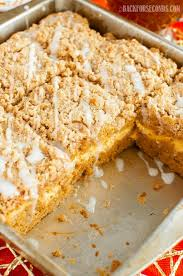 Pumpkin Cream Cheese Coffee Cake with Streusel Back for Seconds