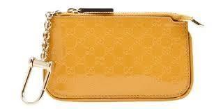 gucci keychain wallet. gucci keychain wallet \u0027shiny\u0027 yellow patent leather card holder 233183 g