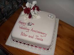 40th Wedding Anniversary Cakes Ideas Idea In 2017 Bella Wedding