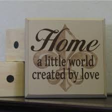 home world created by love fleur de lis home decor sign