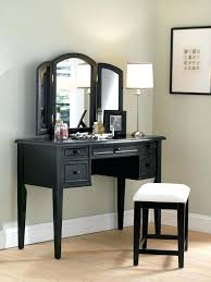 bedroom vanity sets white. Contemporary Bedroom Vanity Set Lighted White Wooden Table With Mirror And Ivory Velvet Stool Sets S